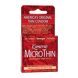 Kimono MicroThin Condom 3 Pack