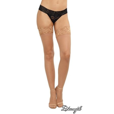 Dreamgirl Dreamgirl Tuscany Sheer Lace Top Stocking with Stay Ups OS