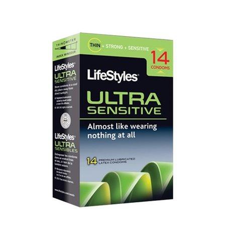 LifeStyles Ultra Sensitive Condoms 14 Pack