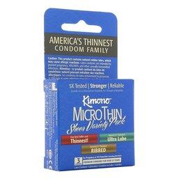 Kimono MicroThin Condom Variety 3 Pack
