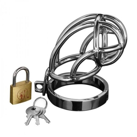 Master Series Master Series Captus Stainless Steel Locking Chastity Cage