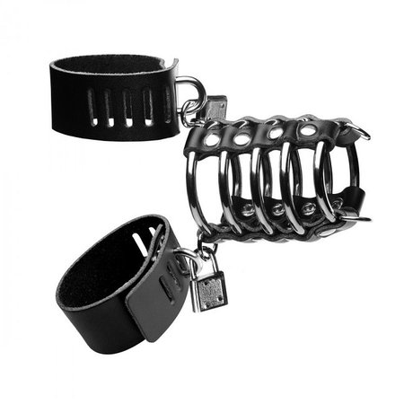 Strict Strict 5 Ring Chastity Device with Cock and Ball Strap