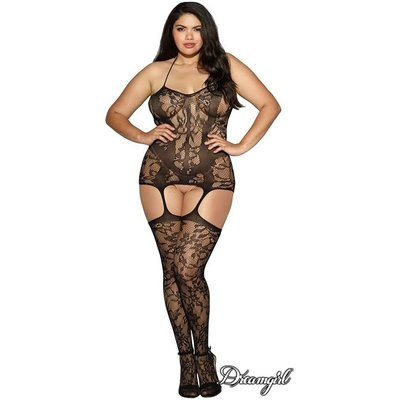 Dreamgirl Lace Halter Garter Dress OSX