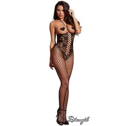 Dreamgirl Open Cup Teddy Bodystocking OS
