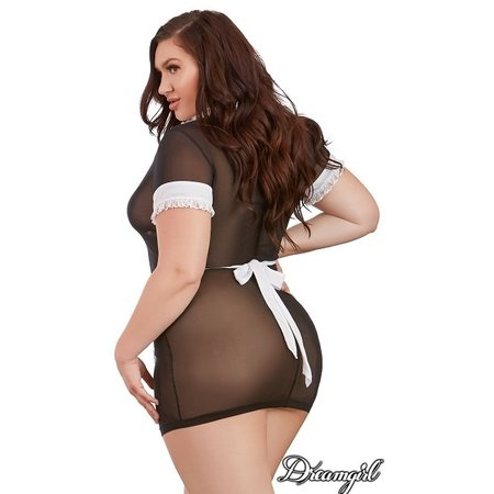 """Dreamgirl Dreamgirl """"Maid Me Dirty"""" 2 Piece Lingerie Costume OSX"""