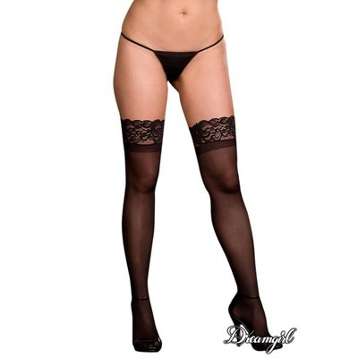 "Dreamgirl ""Ambrose"" Sheer Thigh High with Lace Top OSX"