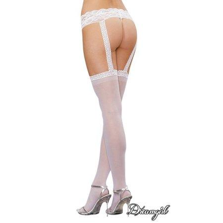 "Dreamgirl Dreamgirl ""Verona"" Sheer Garter Belt Pantyhose OS"