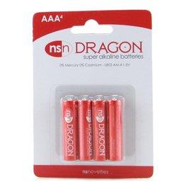 NS Novelties Dragon AAA Super Alkaline Batteries - 4 Pack