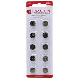 Dragon Alkaline LR44/AG13 Batteries - 10 Pack