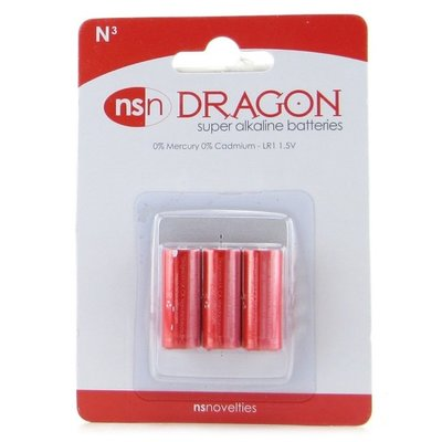 NS Novelties Dragon Super Alkaline N Battery - 3 Pack