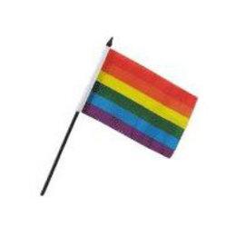 Mini Silk Rainbow Pride Flag