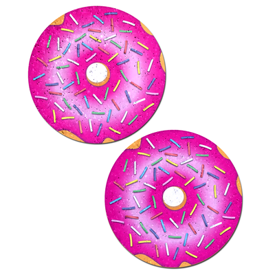 Pastease Donut with Pink Icing and Rainbow Sprinkles Pasties