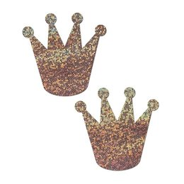 Pastease Pastease Rose Gold Glitter Crown Pasties