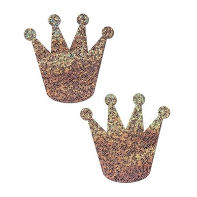 Pastease Rose Gold Glitter Crown Pasties