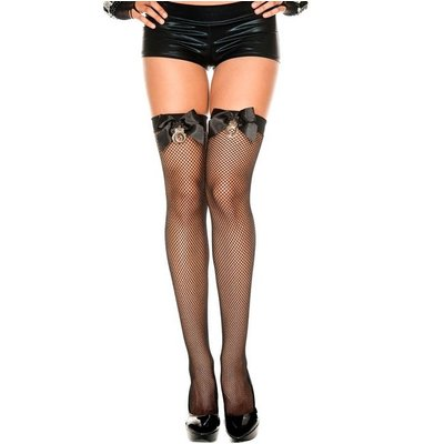 Music Legs Handcuff Mini Diamond Net Thigh Hi OS