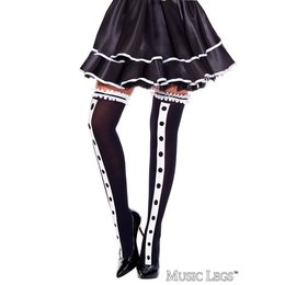 Music Legs Tuxedo Look Thigh Hi OS