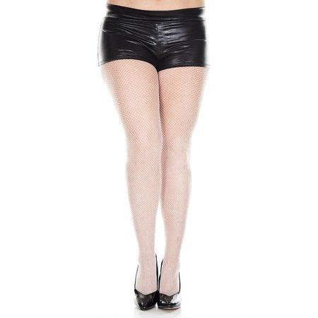 Music Legs Music Legs Fishnet Seamless Spandex Pantyhose OSX