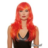 Dreamgirl Long Straight Layered Flame Wig Red/Orange