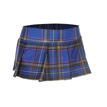 Music Legs Music Legs School Girl Flashy Plaid Pleated Skirt
