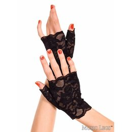 Music Legs Lace Fingerless Wrist Gloves