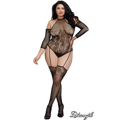 Dreamgirl Fishnet Teddy Bodystocking OSX