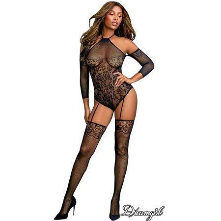 Dreamgirl Dreamgirl Fishnet Teddy Bodystocking OS