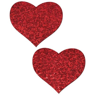 Pastease Red Glitter Heart Pasties