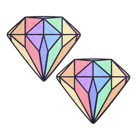 Pastease Pastease Pastel Rainbow Diamond Pasties