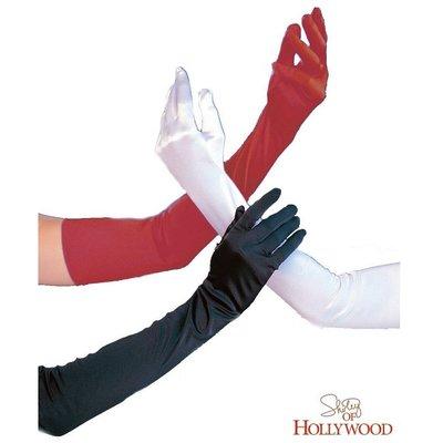 Shirley of Hollywood Long Satin Gloves