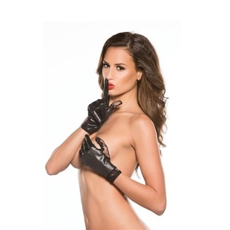 Allure Lingerie Kitten by Allure Lace & Wet Look Gloves OS