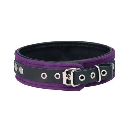 Punishment Purple Suede Bondage Collar