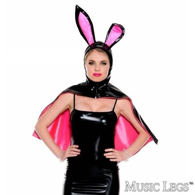 Music Legs Black Bunny Cape OS