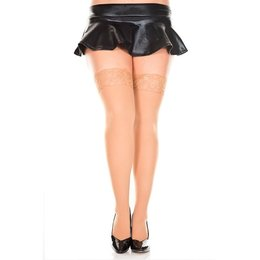 Music Legs Lace Top Opaque Thigh Hi Queen OS