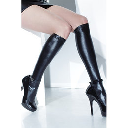 Coquette Wet Look Knee High Sock