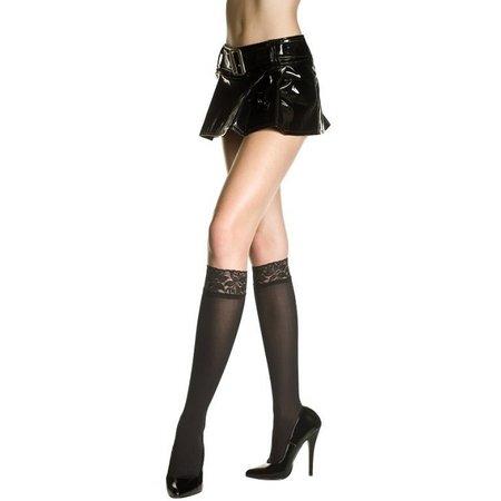 Music Legs Music Legs Opaque Lace Top Knee Hi OS