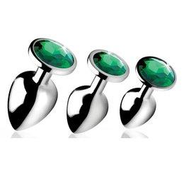 Booty Sparks Emerald Gem Anal Plug Set