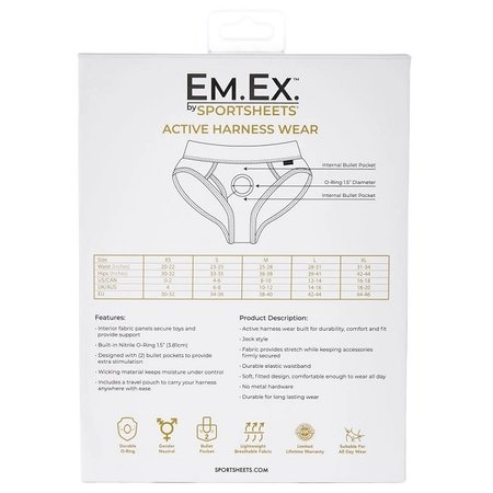 Sportsheets Em.Ex. Active Harness Wear - Contour