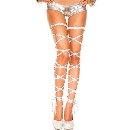 Music Legs Music Legs Metallic Leg Wrap OS