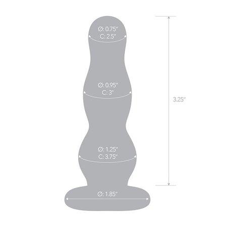 "Gläs Gläs 4"" Glass Butt Plug"