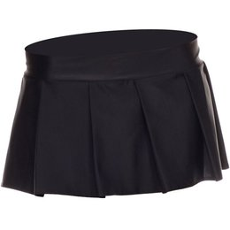 Music Legs Solid Color Pleated Skirt