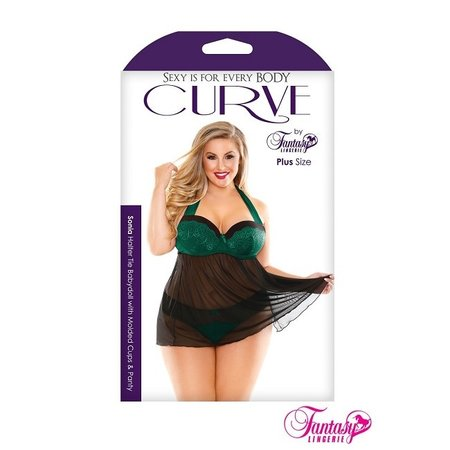 Curve by Fantasy Lingerie Sonia Halter Babydoll & Panty
