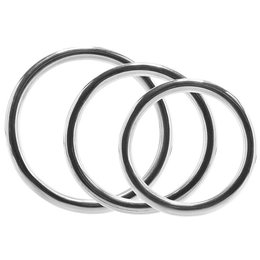 Rouge Stainless Steel 3 Piece Cock Ring Set