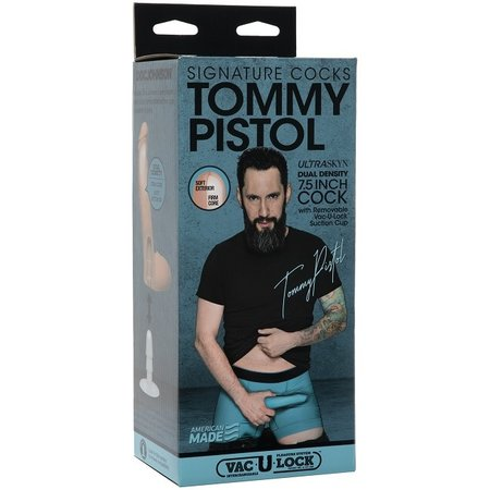 """Doc Johnson Signature Cocks - Tommy Pistol 7.5"""" ULTRASKYN Cock with Vac-U-Lock Suction Cup"""