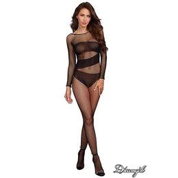 Dreamgirl Long Sleeved Fishnet Bodystocking OS