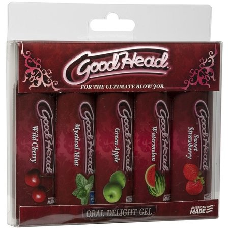 Doc Johnson GoodHead Oral Delight Gel Multi 5-Pack