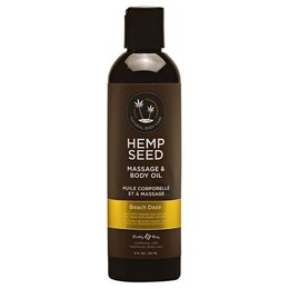 Earthly Body Hemp Seed Massage & Body Oil 8oz