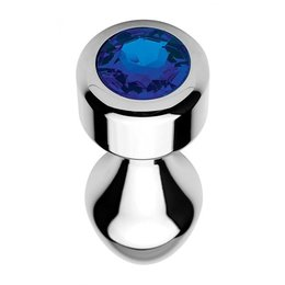 Booty Sparks Weighted Blue Gem Anal Plug - Large