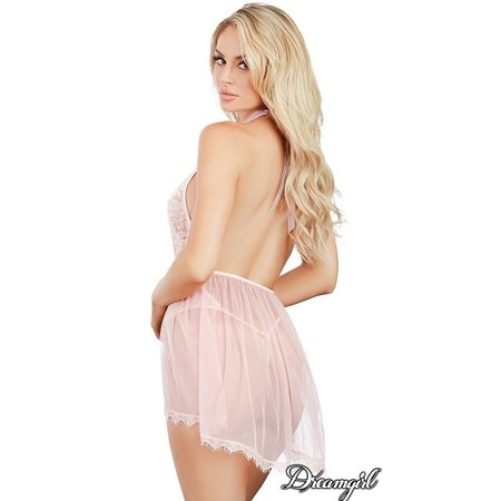 Dreamgirl Dreamgirl Lace Teddy with Hi-Lo Skirt OS