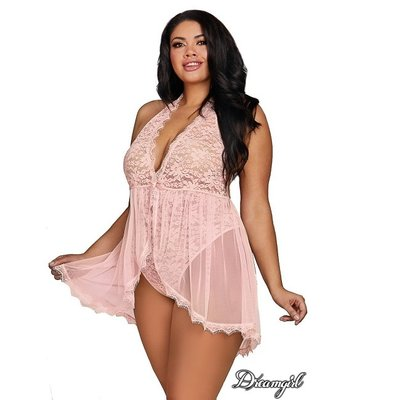 Dreamgirl Lace Teddy with Hi-Lo Skirt OSX
