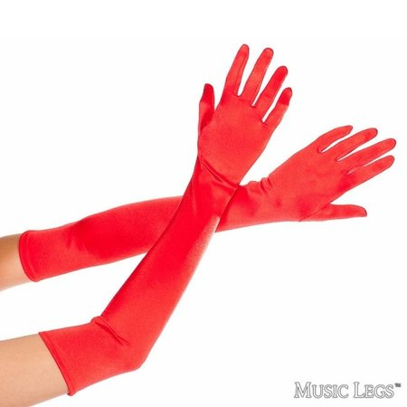 Music Legs Music Legs Extra Long Satin Gloves